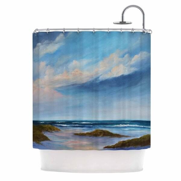 Kess InHouse Rosie Brown Summer Showers Beach Shower Curtain
