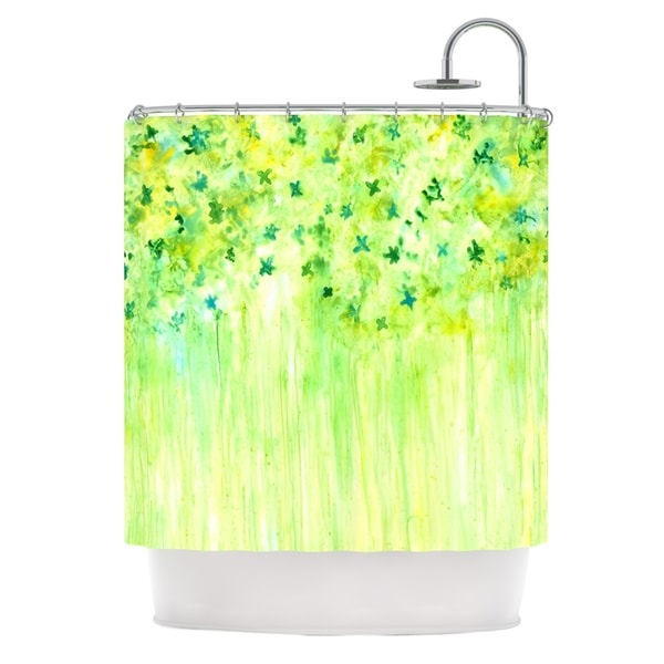 Shop Kess InHouse Rosie Brown April Showers Lime Green Shower Curtain