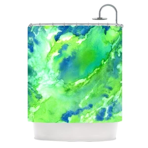 Kess InHouse Rosie Brown Touch of Blue Shower Curtain
