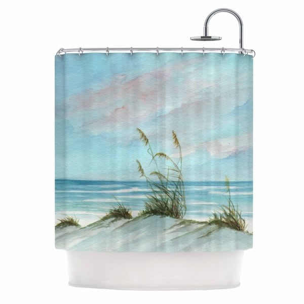 Kess InHouse Rosie Brown Sea Oats Shower Curtain