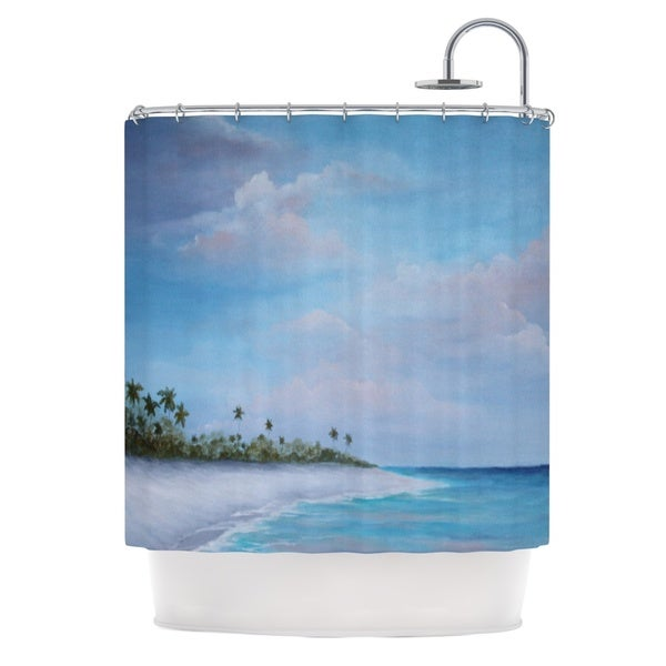 Kess InHouse Rosie Brown Carefree Carribean Shower Curtain