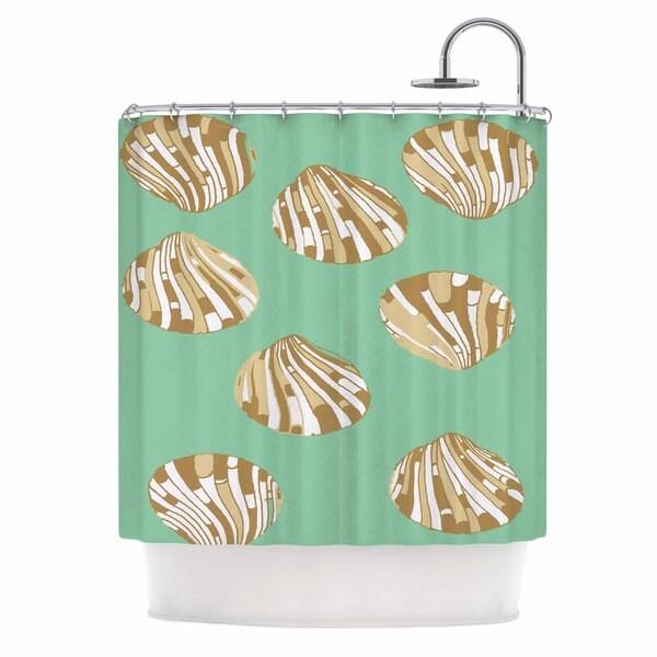 Kess InHouse Rosie Brown Scallop Shells Shower Curtain