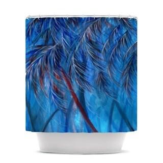 Kess InHouse Rosie Brown Red White Tropical Shower Curtain