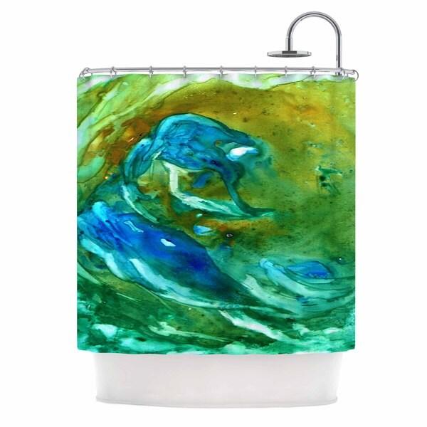 Kess InHouse Rosie Brown Hurricane Shower Curtain