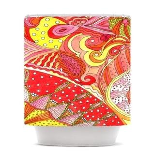 KESS InHouse Rosie Brown Swirls Shower Curtain (69x70)