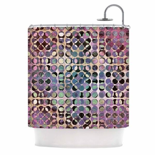 Kess InHouse Pia Schneider Melange of Circles III Pink Purple Shower Curtain