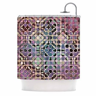 Kess InHouse Pia Schneider Melange of Circles III  Pink Purple Shower Curtain