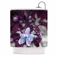 Kess InHouse Pia Schenider Roses Ll Purple White Shower Curtain