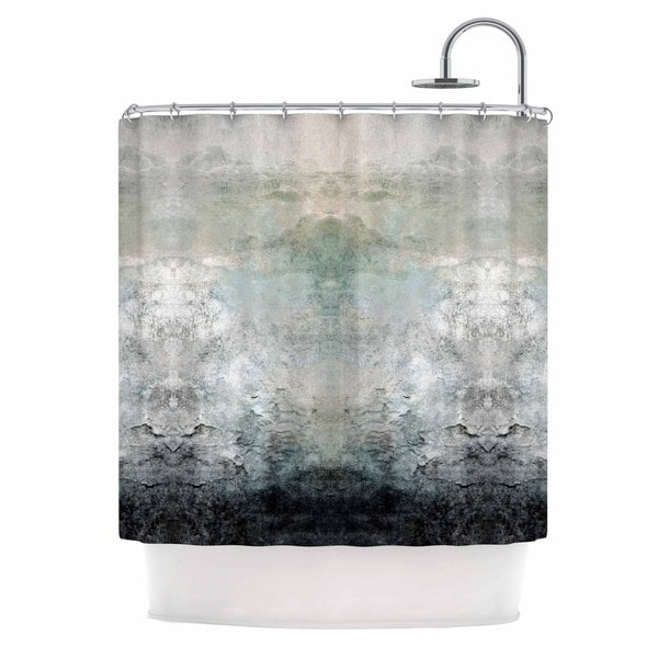 Kess InHouse Pia Schneider Abstract No.1 Gray White Shower Curtain