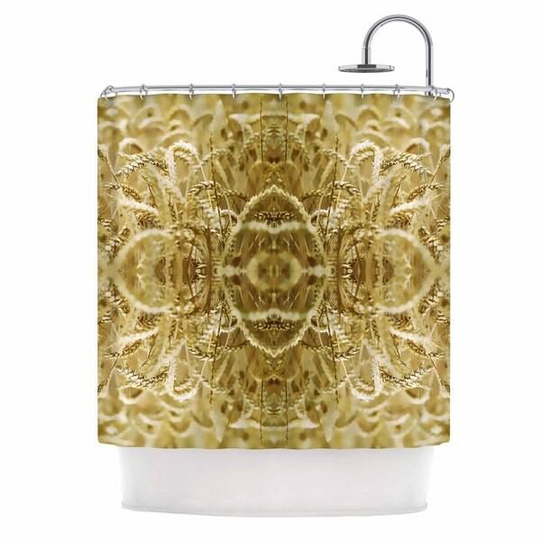 Kess InHouse Pia Schneider Cornfield Pattern,ocker Gold Yellow Pattern Shower Curtain