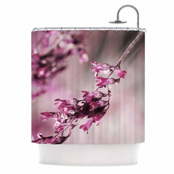 Kess InHouse Pia Schneider Rose Spangles Pattern Pink Black Shower Curtain