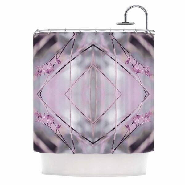Kess InHouse Pia Schneider Pink Spangles No.8 Purple Balck Shower Curtain