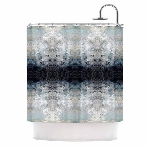 Kess InHouse Pia Schneider Heavenly Abstraction L Blue Digital Shower Curtain