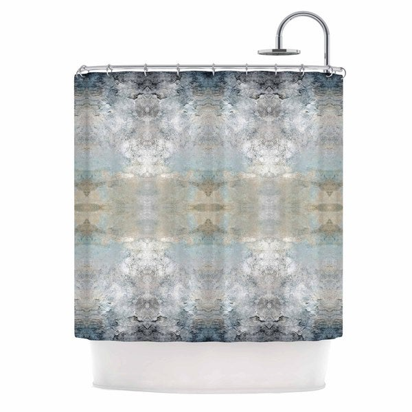Kess InHouse Pia Schneider Heavenly Bird III Blue Pattern Shower Curtain