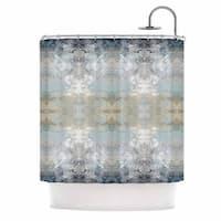 Kess InHouse Pia Schneider Heavenly Bird III Blue Pattern Shower Curtain