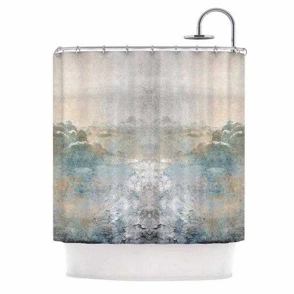 Kess InHouse Pia Heaven II Mixed Mediia Abstract Shower Curtain
