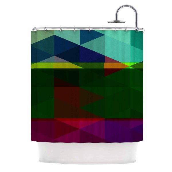 Kess InHouse Juan Paolo Labyrinth Multicolor Geometric Shower Curtain