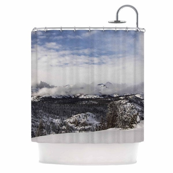 KESS InHouse Juan Paolo Top Of The Summit Blue White Shower Curtain (69x70)