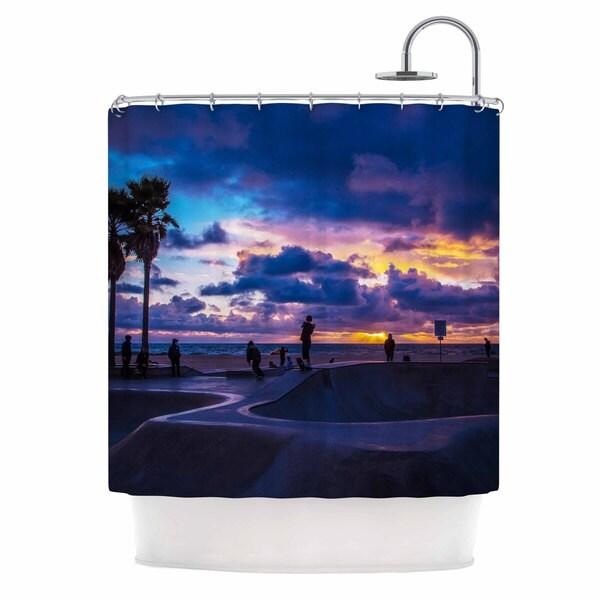 Kess InHouse Juan Paolo Dogtown Multicolor Blue Shower Curtain