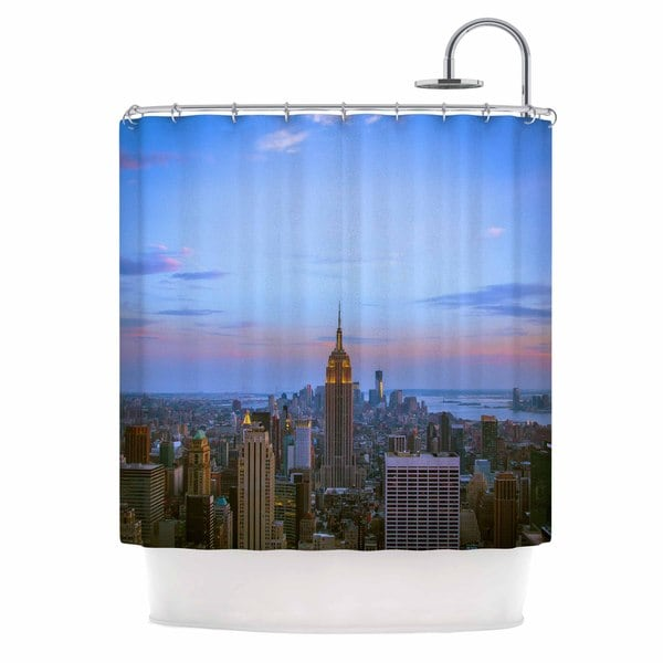 Kess InHouse Juan Paolo Empire State of Mind Blue Multicolor Shower Curtain