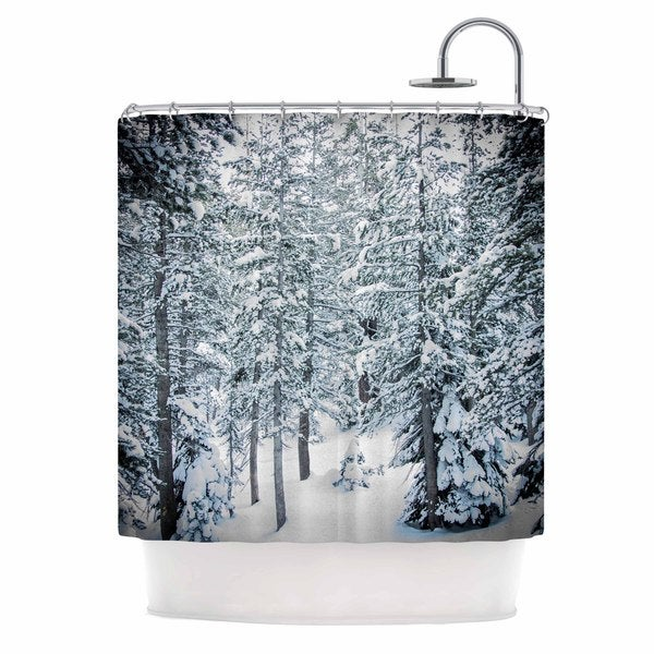 Kess InHouse Juan Paolo Winter Trials White Snow Shower Curtain