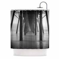 Kess InHouse Juan Paolo Vanishing Point Coastal Photography Shower Curtain