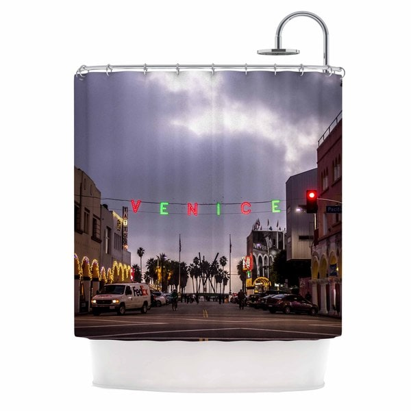 Kess InHouse Juan Paolo Venice Christmas Holiday Photography Shower Curtain