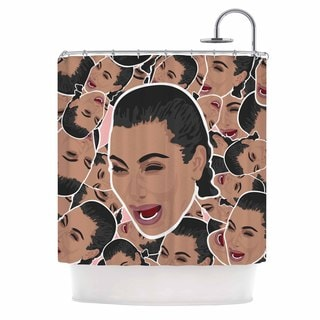 Kess InHouse Juan Paolo First World Problems Celebrity Funny Shower Curtain