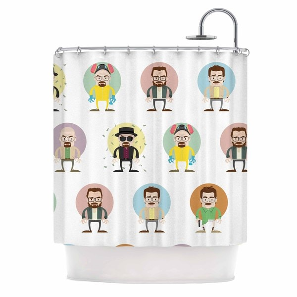 Kess InHouse Juan Paolo The Stages of Walter White Breaking Bad Shower Curtain