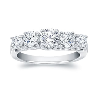 Auriya Platinum 1 1/2ct TDW 5-Stone Diamond  Ring