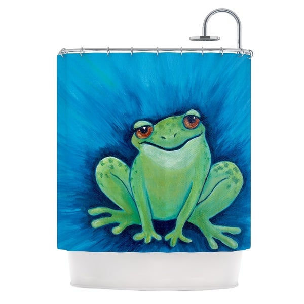 Kess InHouse Padgett Mason Ribbit Ribbit Shower Curtain