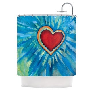 Kess InHouse Padgett Mason Love Shines On Shower Curtain