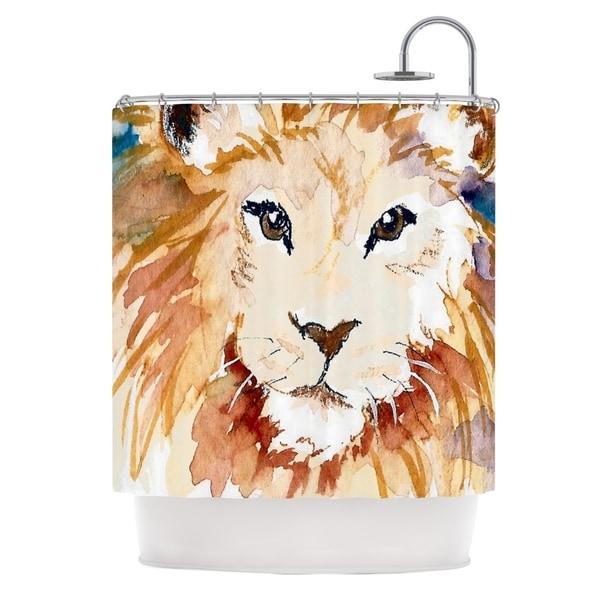 Kess InHouse Padgett Mason Leo Shower Curtain