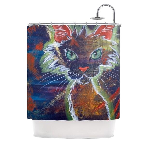 Kess InHouse Padgett Mason Rave Kitty Shower Curtain