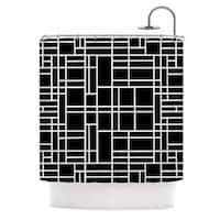 Kess InHouse Project M Map Outline Black Simple Geometric Shower Curtain