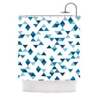 KESS InHouse Project M Triangles Blue Navy White Shower Curtain (69x70)