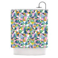 Kess InHouse Project M Abstraction Pink Rainbow Abstract Shower Curtain