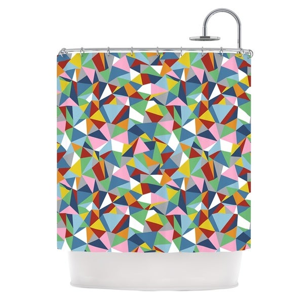 Kess InHouse Project M Abstraction Rainbow Abstract Shower Curtain