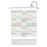 Kess InHouse Project M Rainbow Specs Shower Curtain