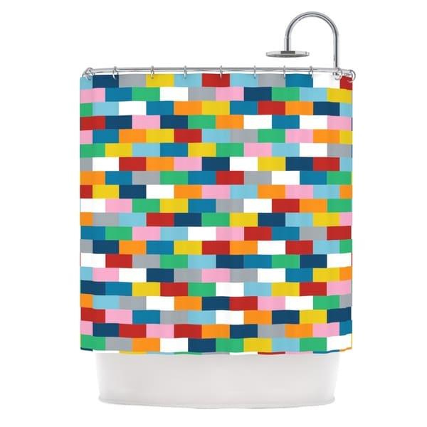 Kess InHouse Project M Bricks Shower Curtain
