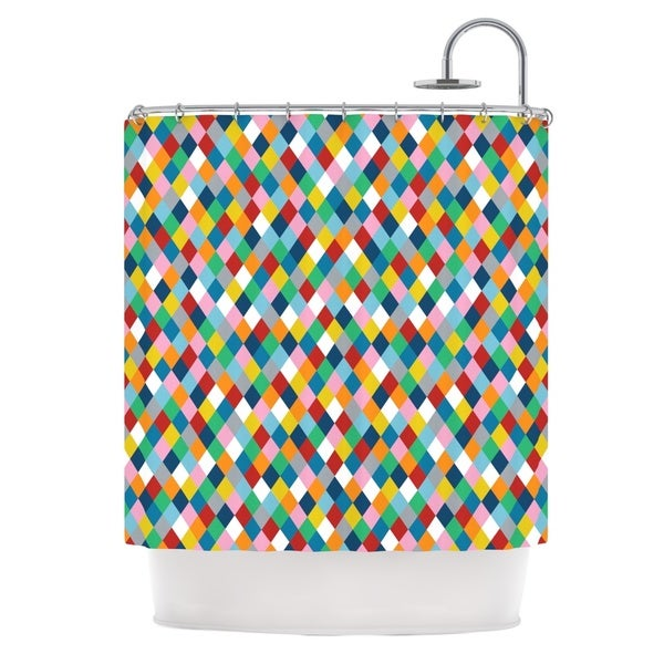 Kess InHouse Project M Harlequin Shower Curtain