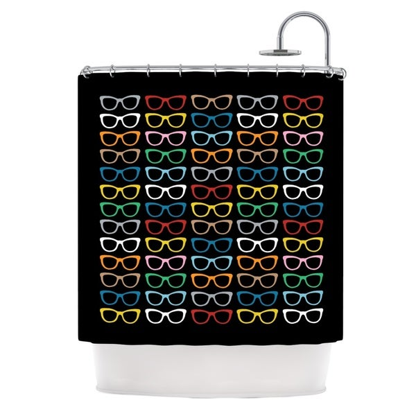 Kess InHouse Project M Sun Glasses At Night Shower Curtain