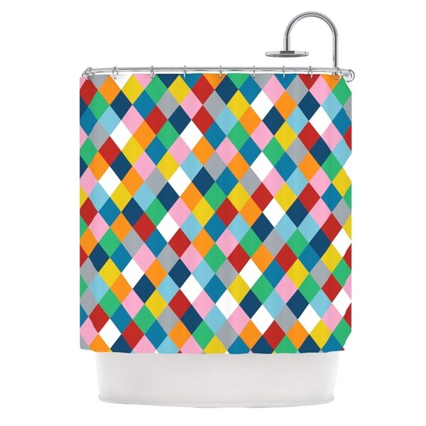 Kess InHouse Project M Harlequin Zoom Shower Curtain