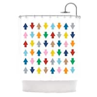 Kess InHouse Project M Arrows Up and Down White Shower Curtain