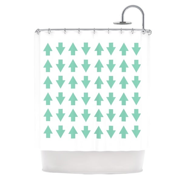 Kess InHouse Project M Arrows Up and Down Mint Shower Curtain
