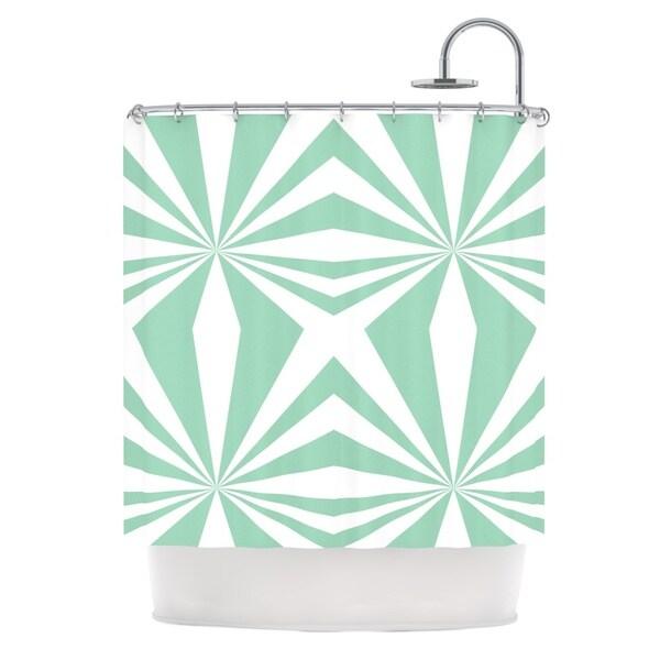 Kess InHouse Project M Starburst Mint Shower Curtain