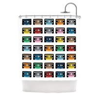 Kess InHouse Project M Rainbow Tapes Shower Curtain