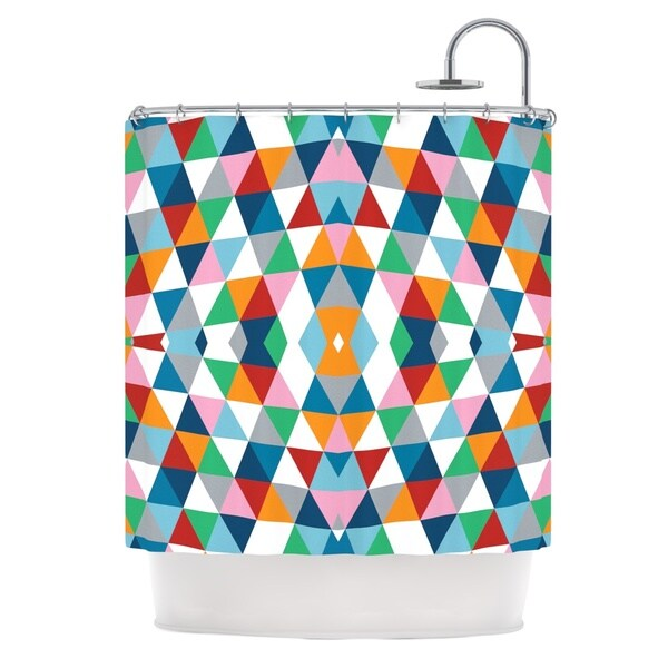 Kess InHouse Project M Geometric Shower Curtain