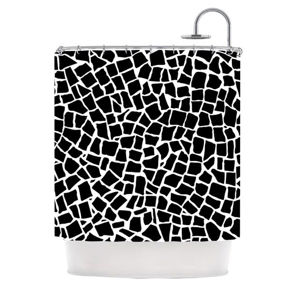 Kess InHouse Project M British Mosaic Black Shower Curtain