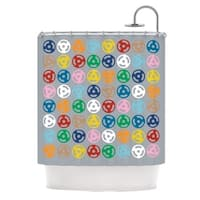 Kess InHouse Project M Roll with It On Grey Shower Curtain